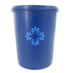 Tupperware Blue Floral Servalier Canister No. 809